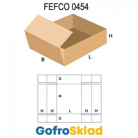 Короб FEFCO 0454 с усиленными бортами по ширине