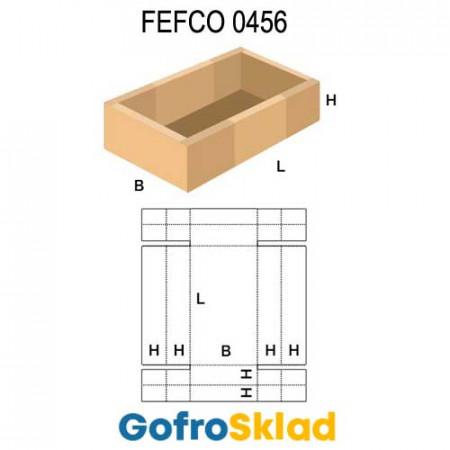 Короб FEFCO 0456 с усиленными бортами по кругу