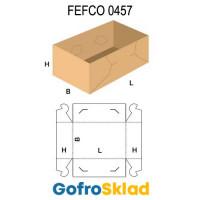 Короб FEFCO 0457 с замковыми соединениями на торцах