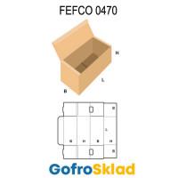 Короб FEFCO 0470 с откидной крышкой и фиксатором
