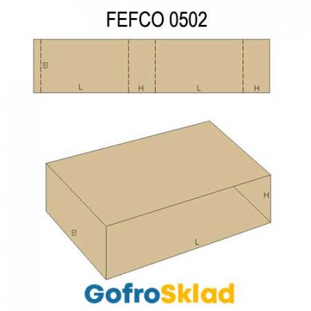 Обечайка картонная (FEFCO 0502)