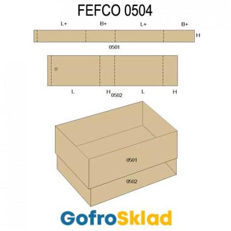 Обечайка картонная (FEFCO 0504)