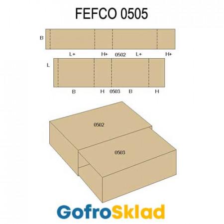 Обечайка картонная (FEFCO 0505)