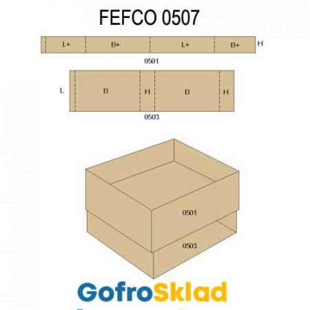 Обечайка картонная (FEFCO 0507)