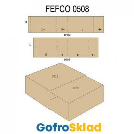 Обечайка картонная (FEFCO 0508)