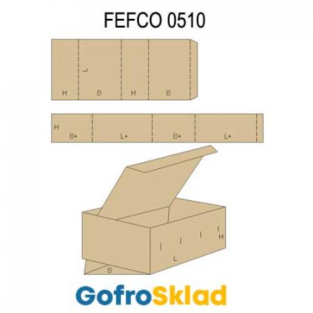 Обечайка картонная (FEFCO 0510)