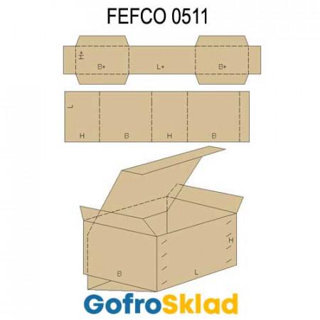 Обечайка картонная (FEFCO 0511)