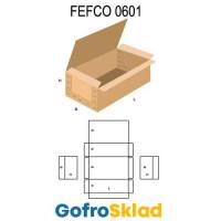 Короб FEFCO 0601 усиленный с откидной крышкой