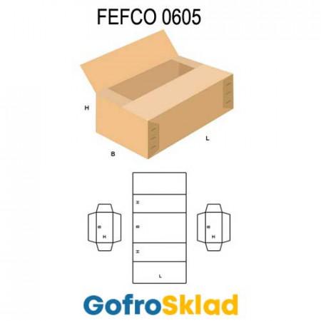 Короб FEFCO 0605 усиленный с четырехклапанной крышкой