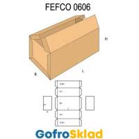 Короб FEFCO 0606 усиленный с двухклапанной крышкой