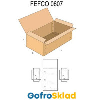 Короб FEFCO 0607 усиленный с откидной крышкой