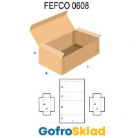 короб FEFCO 0608 усиленный с откидной замковой крышкой