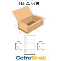 Короб FEFCO 0610 усиленный с откидной крышкой