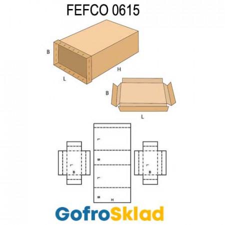 Короб FEFCO 0615 усиленный с боковыми крышками