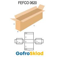 Короб FEFCO 0620 усиленный с 4-х клапанной крышкой