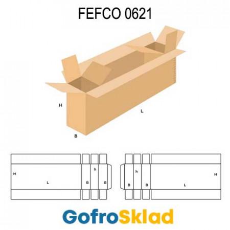Короб FEFCO 0621 усиленный с тремя отсеками