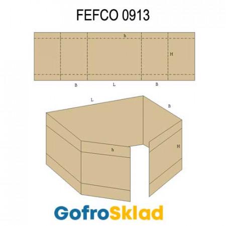 Прокладка из гофрокартона (FEFCO 0913)