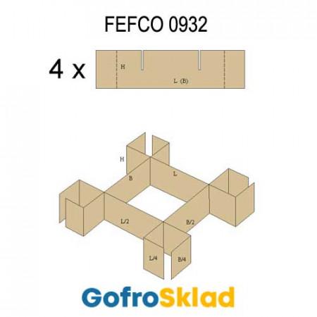 Решетки из гофрокартона FEFCO 0932