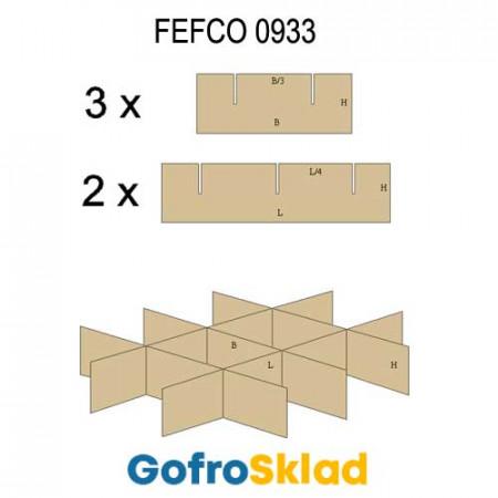 Решетки из гофрокартона FEFCO 0933