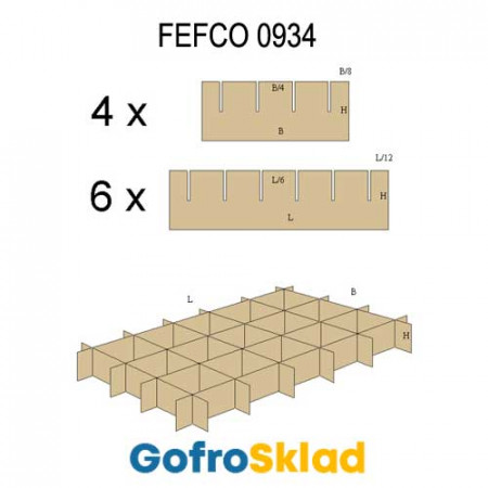 Решетки из гофрокартона FEFCO 0934