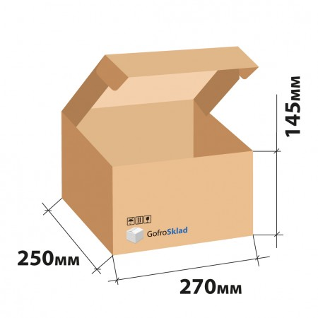 Самосборный короб с ушками FEFCO 0427 270x250x145