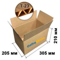 Картонная коробка 305х205х210 Т-23 бурая