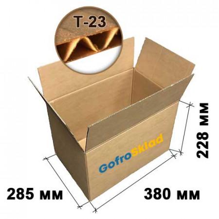 Картонная коробка №17 380х285х228 Т-23 бурая