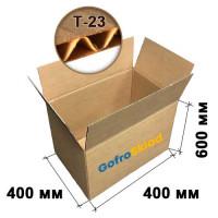 Картонная коробка 400х400х600 Т-23 бурая