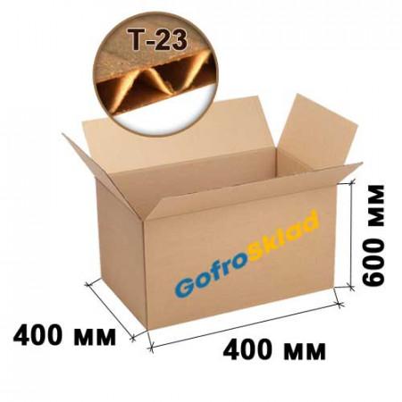 Картонная коробка для переезда 400х400х600 Т-23 бурая