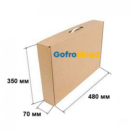 Коробка Чемодан 480х70х350 мм Т-24 Бурый