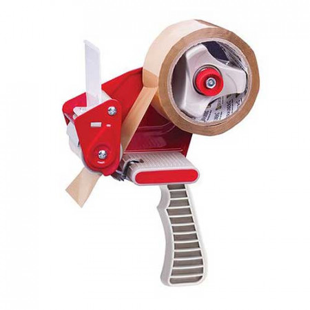 Диспенсер для упаковочного скотча 50 мм красный