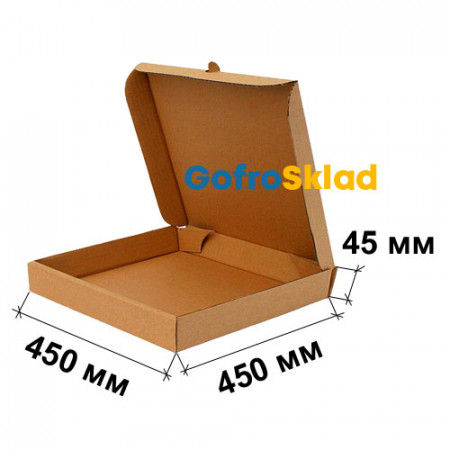 Коробка для пирога 450x450x45 Т-24 Бурая