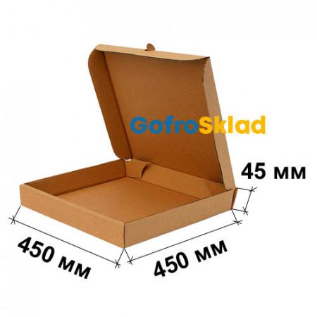 Коробка для пиццы 450x450x45 Т-24 Бурая
