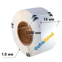 Полипропиленовая лента 15x1.0x1200 белая