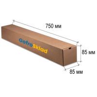 Квадратный тубус из картона 750x85x85 мм